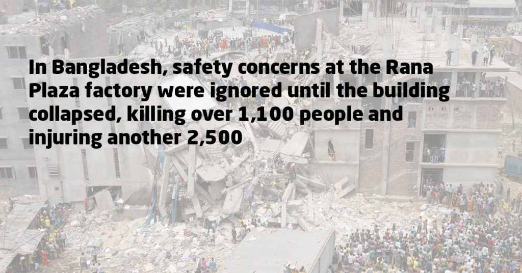 Rana Plaza collapsed in 2013 killing over 1100 people