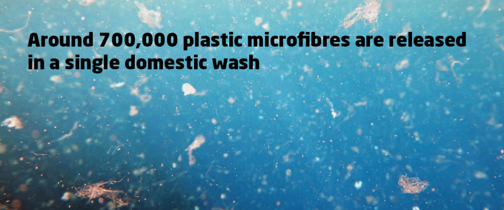 Plastic Microfibres are released in every wash