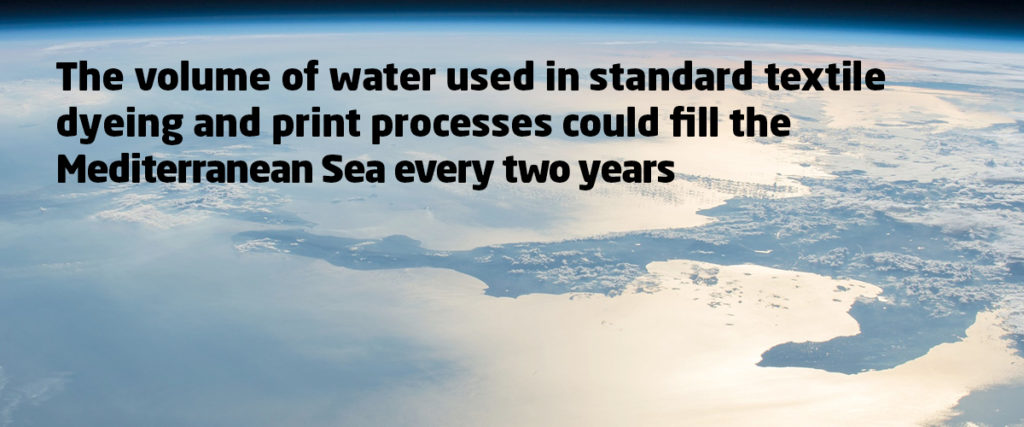 The textile industry is a huge user of water