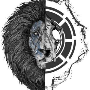 Born Hybrid Lion Illustration