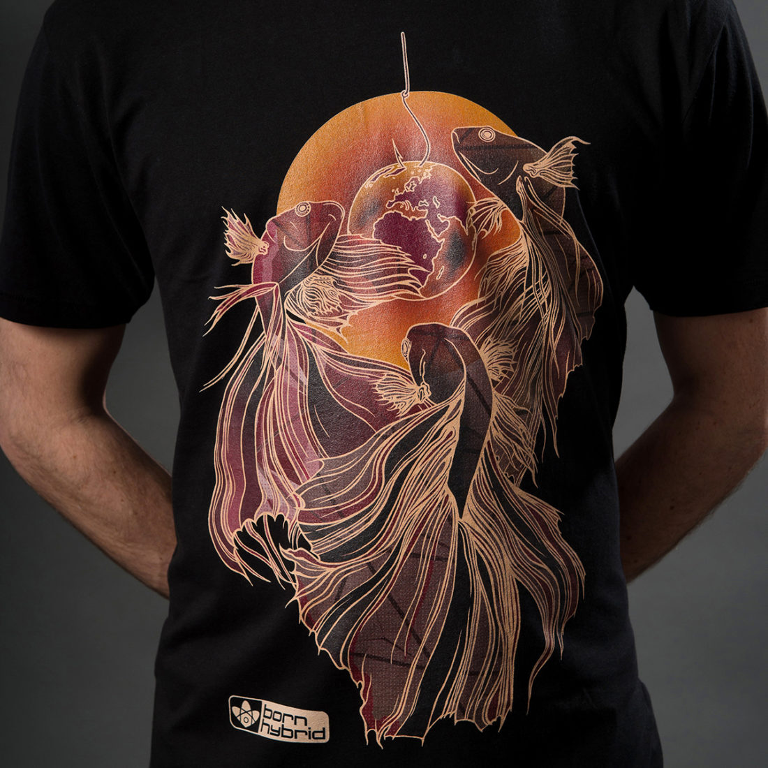 Betta fish t-shirt in organic cotton by sustainable clothing brand Born Hybrid