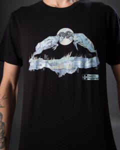 Ram graphic T-shirt. Born Hybrid eco t-shirt in black