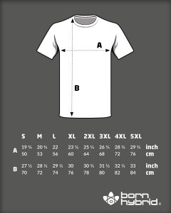men's organic cotton graphic t-shirt size guide