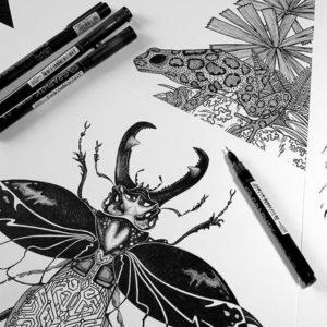 Born Hybrid Graphic Tee Illustrations