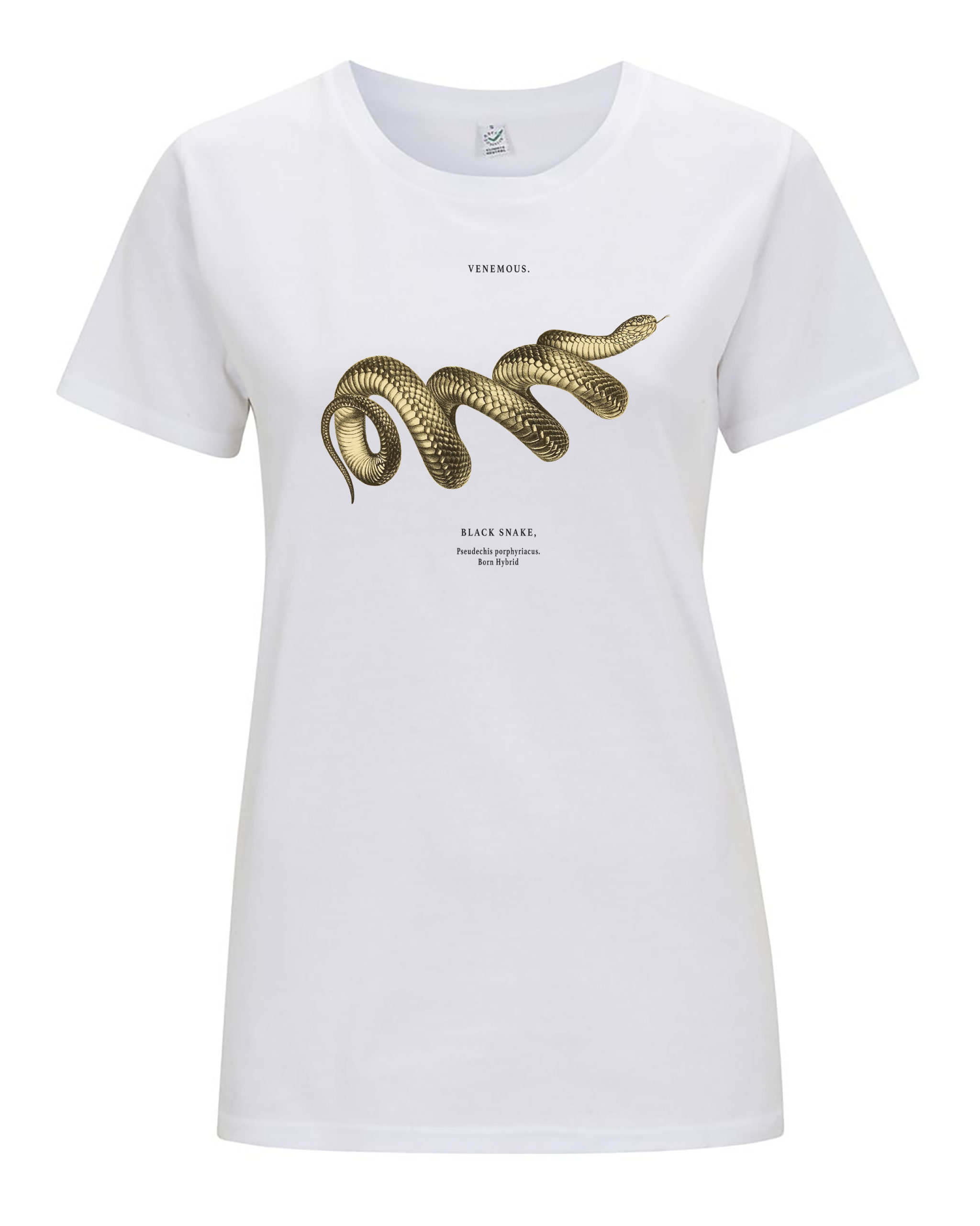 women's snake t-shirt in white