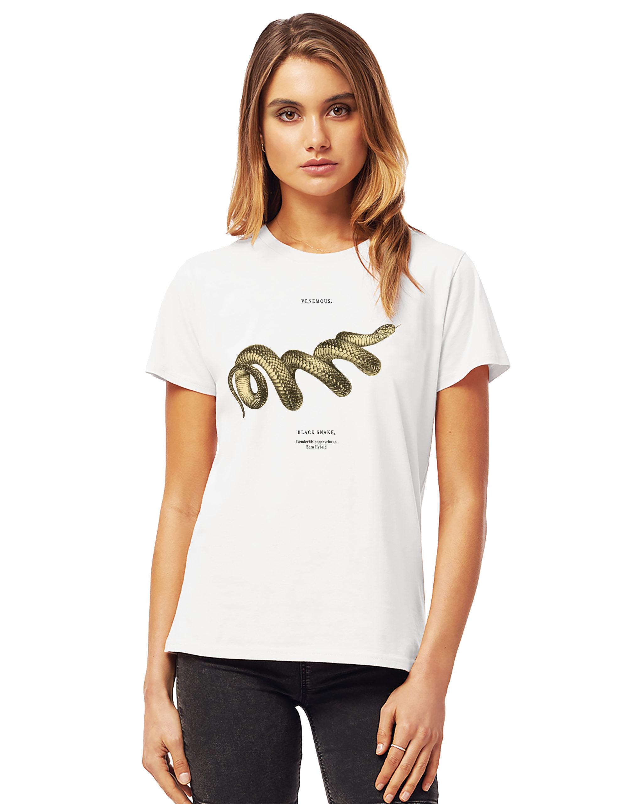 Women's snake t-shirt in white